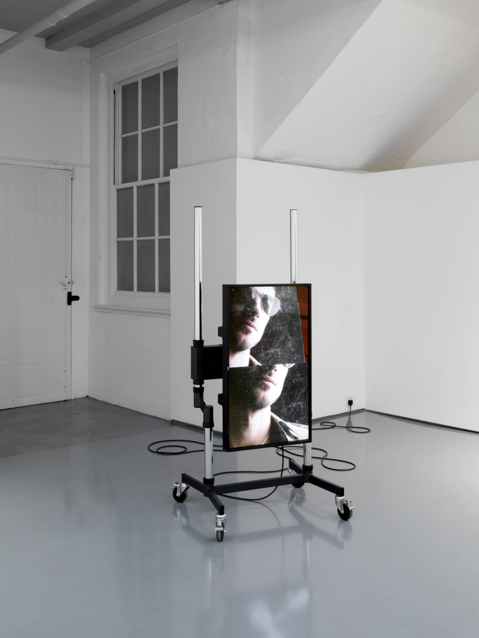 "Sunglasses, 2011  2 JVC 42"" monitors, 2 Western Digital HD Media Players, 2 Unicol Trolleys  dimensions variable"