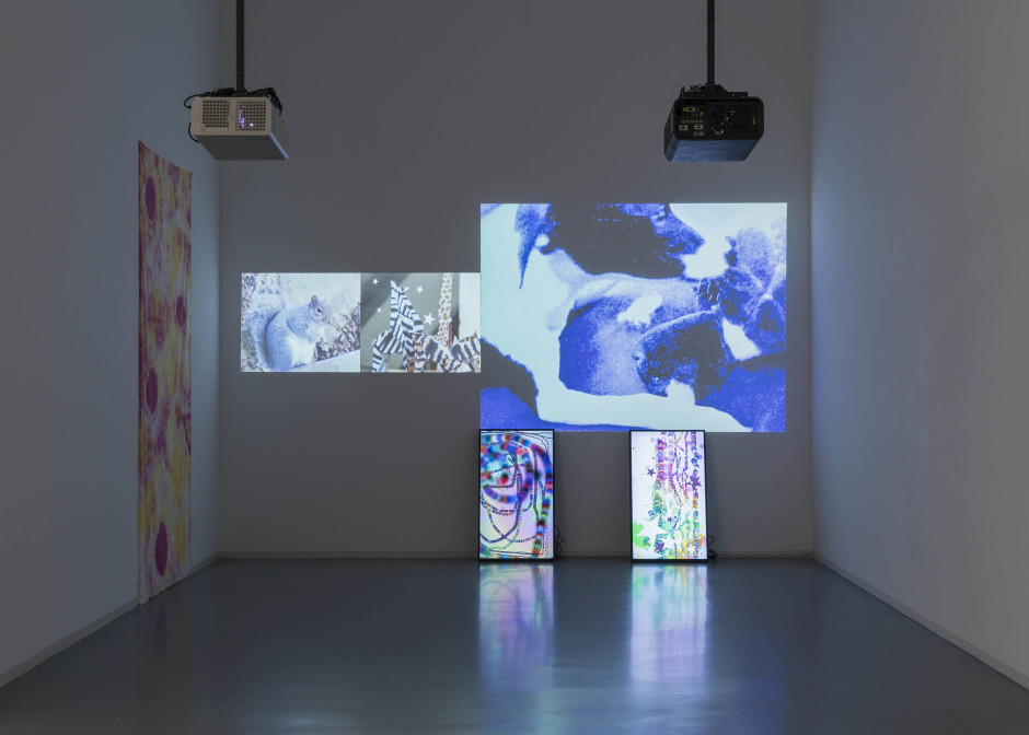 Installation view, Hilary Lloyd, Bonner Kunstverein, Bonn, 22 September – 19 November 2017