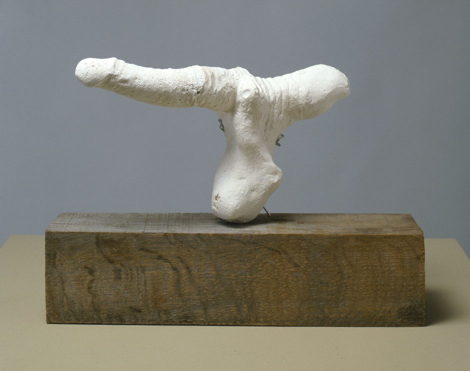 Swan, 2008  plaster, steel wire, wood  38.0 x 40.0 x 10.0 cm 15 x 15 3/4 x 3 7/8 in.