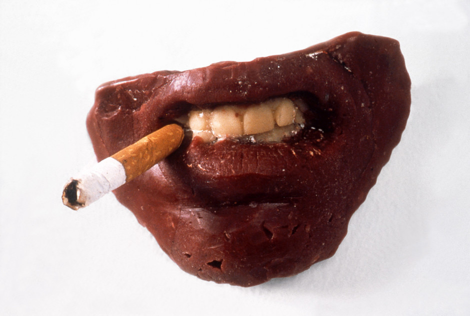 Where Does It All End ?, 1994  wax, cigarette  6.3 x 9.5 x 6.3 cm  2 ½ x 3 ¾ x 2 ½ in