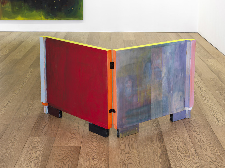 Untitled, 2010  oil on wooden panels  32 5/8 in.