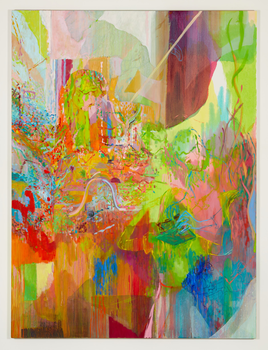 You Can Radiate Over Here, 2016  signed and dated on verso  oil on canvas  240 x 180 x 4 cm 94 1/2 x 70 7/8 x 1 5/8 in.