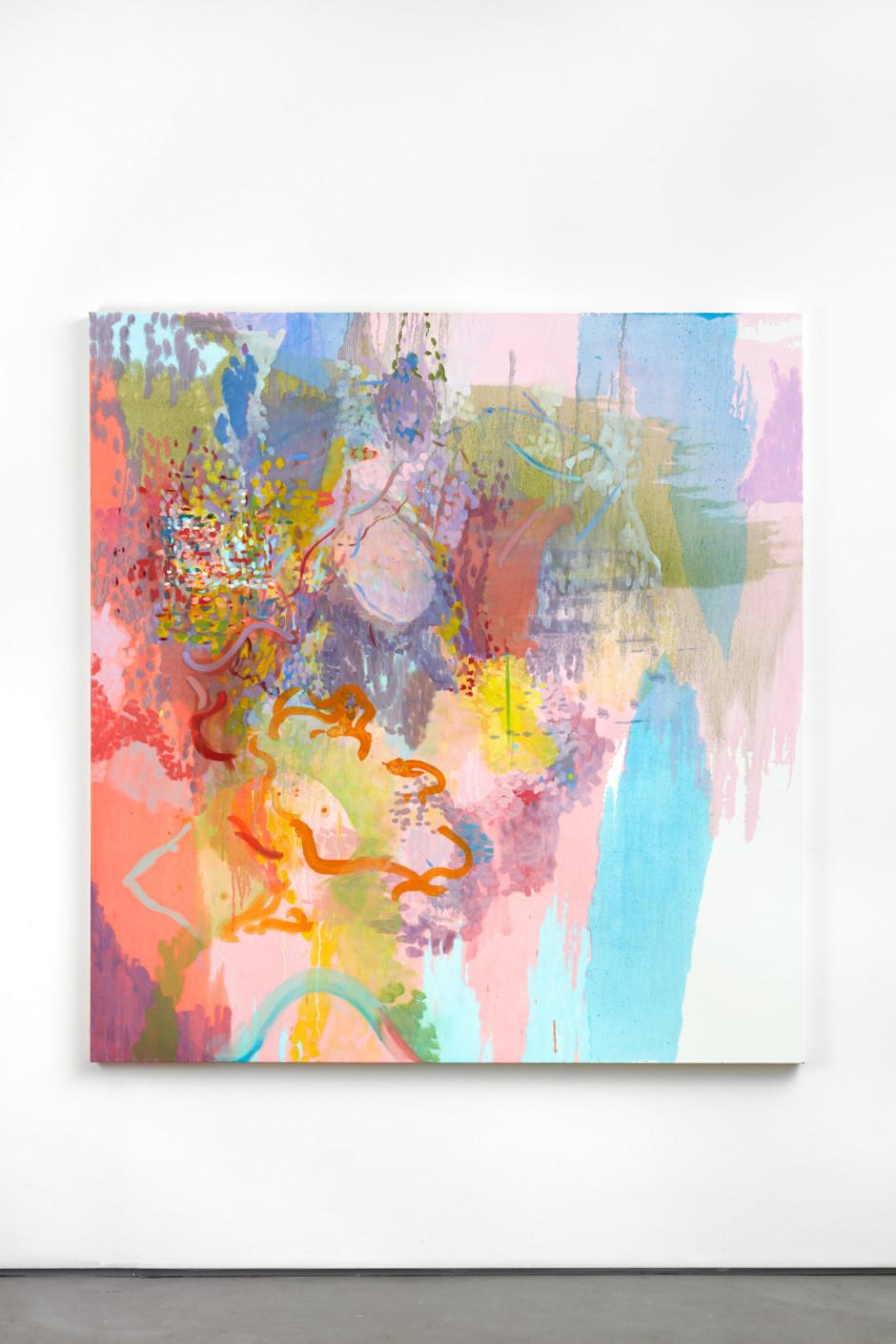 Love Scene, 2018  oil on canvas  190.5 x 180.5 x 3.5 cm  75 x 71 x 1 ⅜ in.