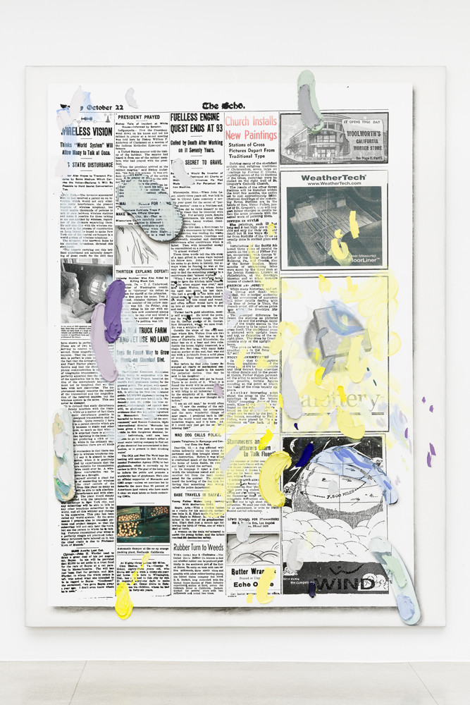 Untitled, 2015  oil, silkscreen inks, Flashe, charcoal, acrylic and gesso on linen  351.0 x 264.5 x 8.5 cm 138 3/16 x 104 1/8 x 3 5/16 in.