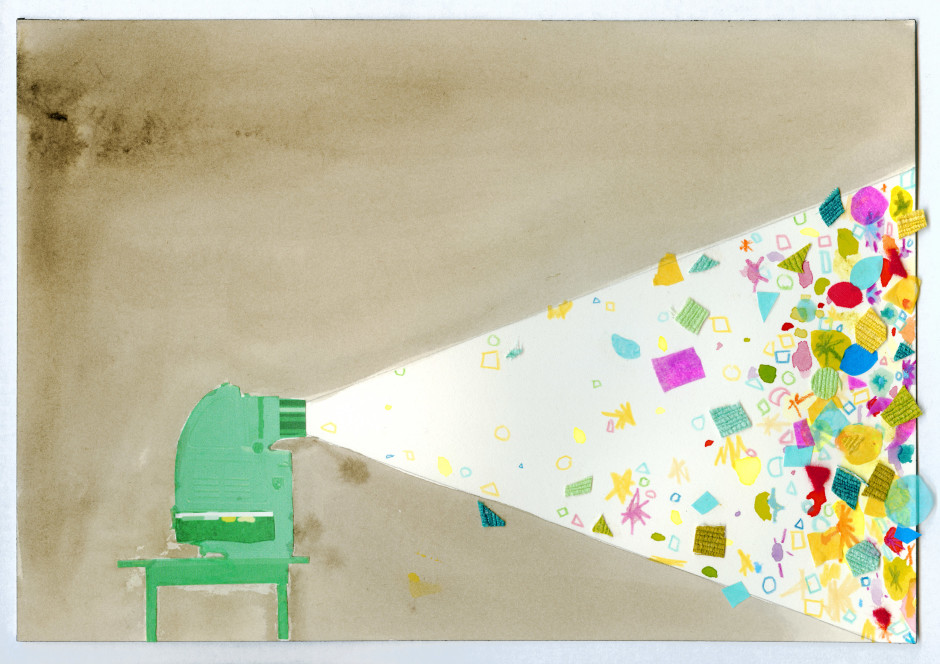 Edgar Bryan, 2003  watercolour and collage on paper  17.8 x 25.8 cm 7 x 10 1/8 in.