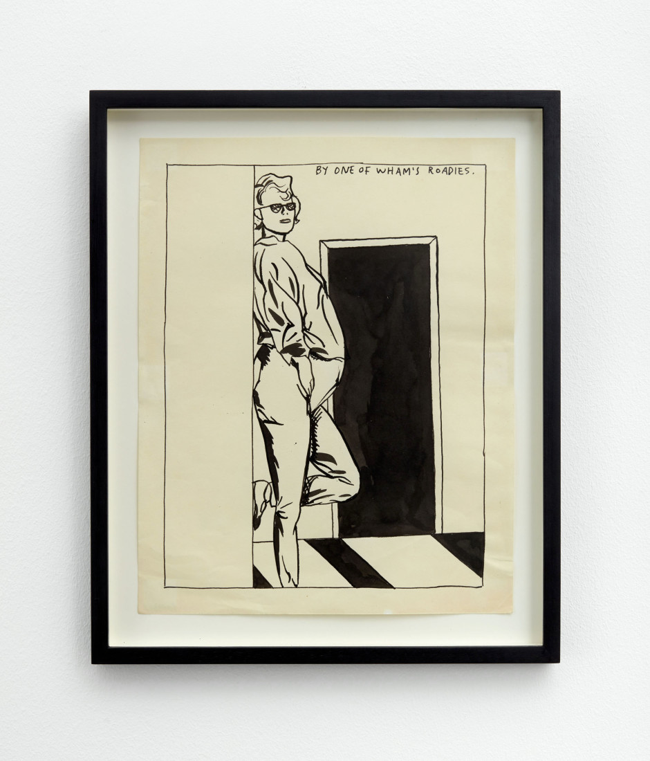 No Title (By one of), 1987  pen and ink on paper  site size: 35 x 28 cm / 13 ¾ x 11 ⅛ in frame size: 42.1 x 34.5 x 2.5 cm / 16 ⅝ x 13 ⅝ x 1 in