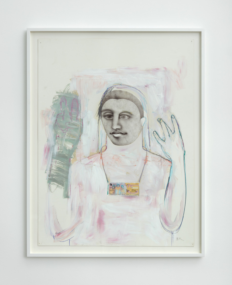 Untitled (Hippie Drawing), 2000-05  ink and acrylic on paper  frame size: 111.6 x 86.5 x 4.5 cm / 44 x 34 ⅛ x 1 ¾ in
