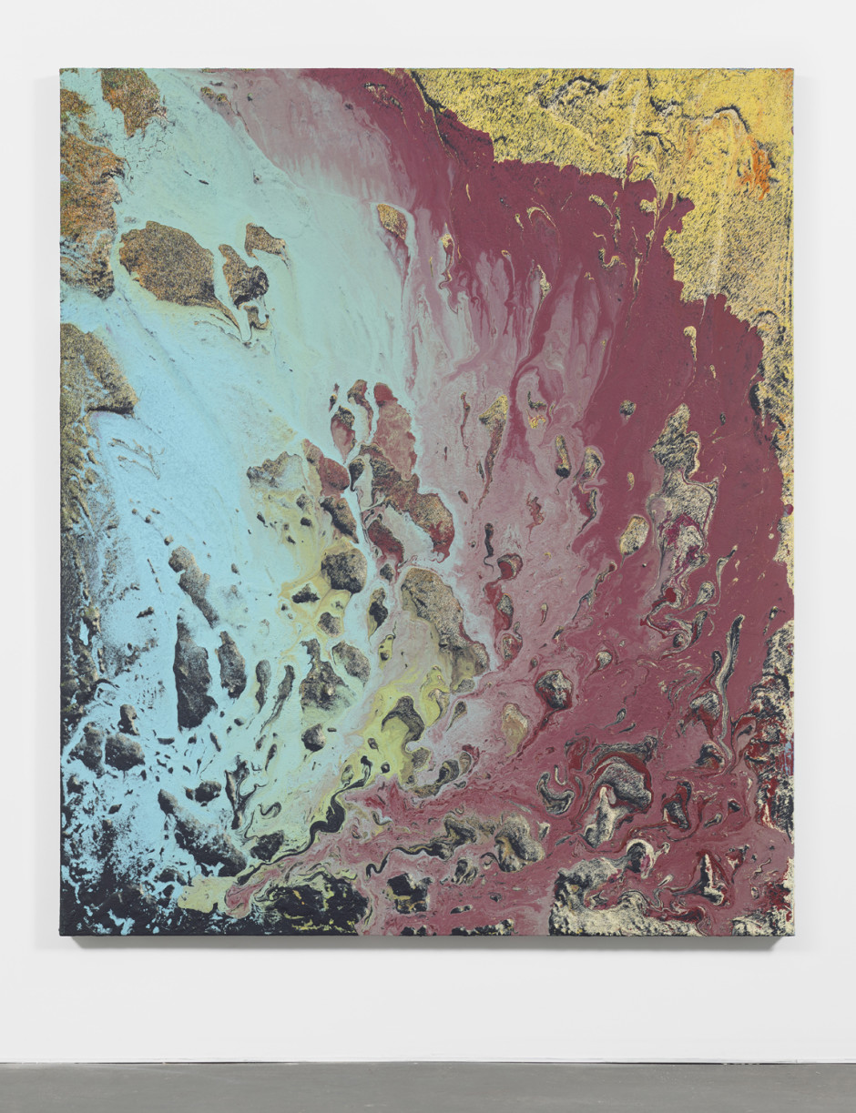 Untitled, 2015 Latex, enamel, lacquer and synthetic polymer paint on polyester canvas 70 x 59.25 in.