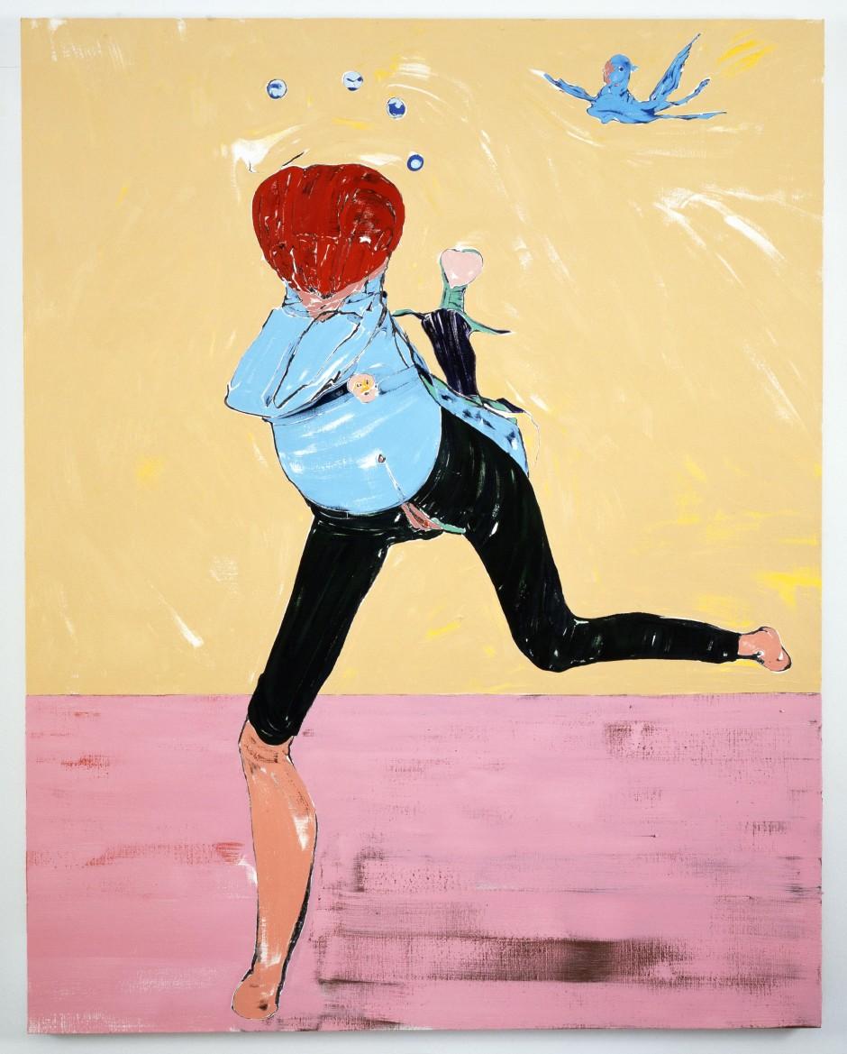 Running Figure, 2008  oil on canvas  193.04 x 152.4 x 4.13 cm 76 x 60 x 1 5/8 in.