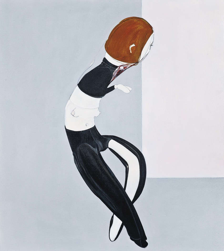 Self Portrait: Early 80's, 1995  oil on linen  142.24 x 127 cm / 56 x 50 in.