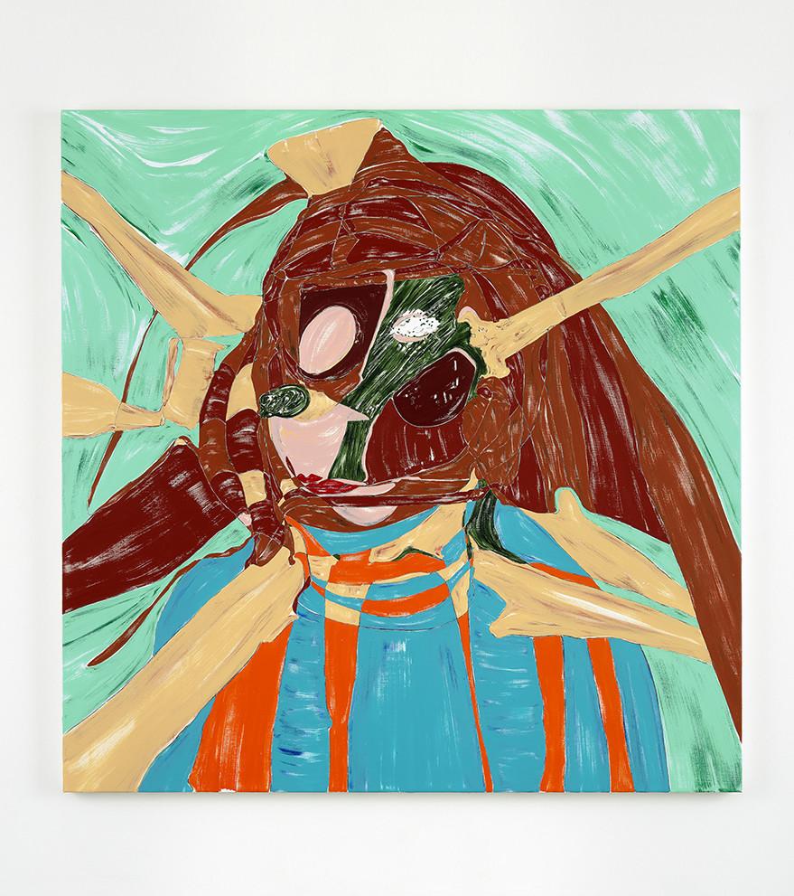 Square Self-Portrait, 2017  acrylic on linen  182.9 x 182.9 x 3.8 cm 72 x 72 x 1 1/2 in.