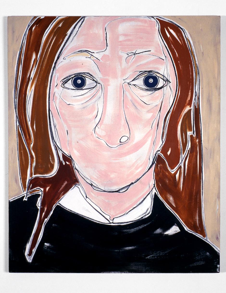 Self Portrait, Head, 2000  acrylic on canvas  142.24 x 167.64 cm 56 x 66 in.