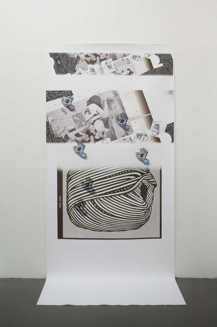 Untitled, 2011  inkjet on canvas  234.0 x 122.0 cm 92 1/8 x 48 in.
