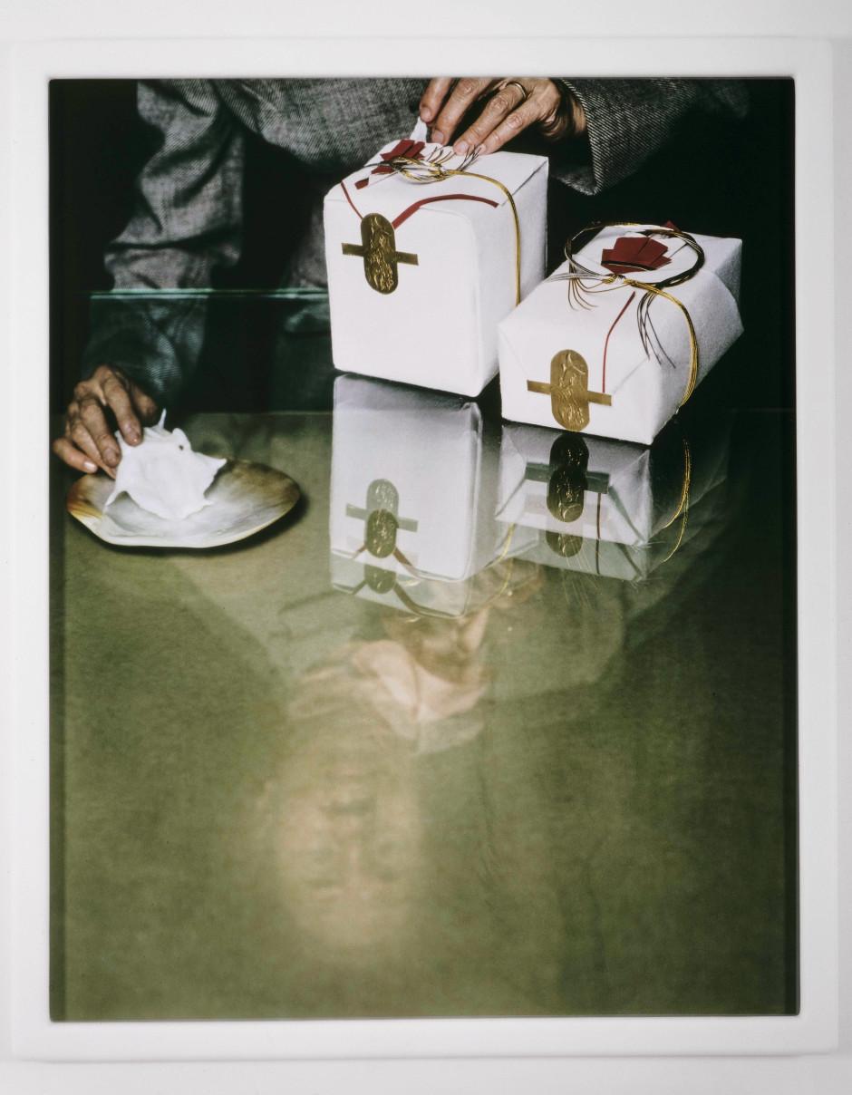 DRAWING RESTRAINT 9: Dear General MacArthur, 2005  c-print in self-lubricating plastic frame  134.62 x 109.22 x 3.81 cm 53 x 43 x 1 1/2 in.
