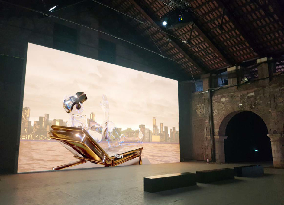 Installation view, Geomancer, Hyperpavilion, Arsenale Nord, Venice Biennale, 13 May – 31 October 2017