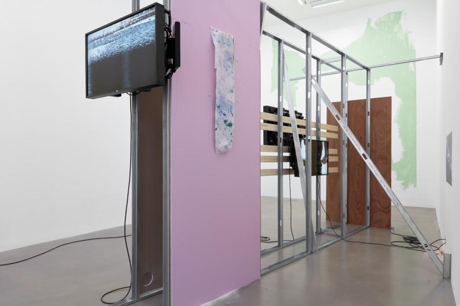 Installation view, Hilary Lloyd, Car Park, 2019, Sadie Coles HQ, London, 21 November – 20 December 2019  Photography: Robert Glowacki