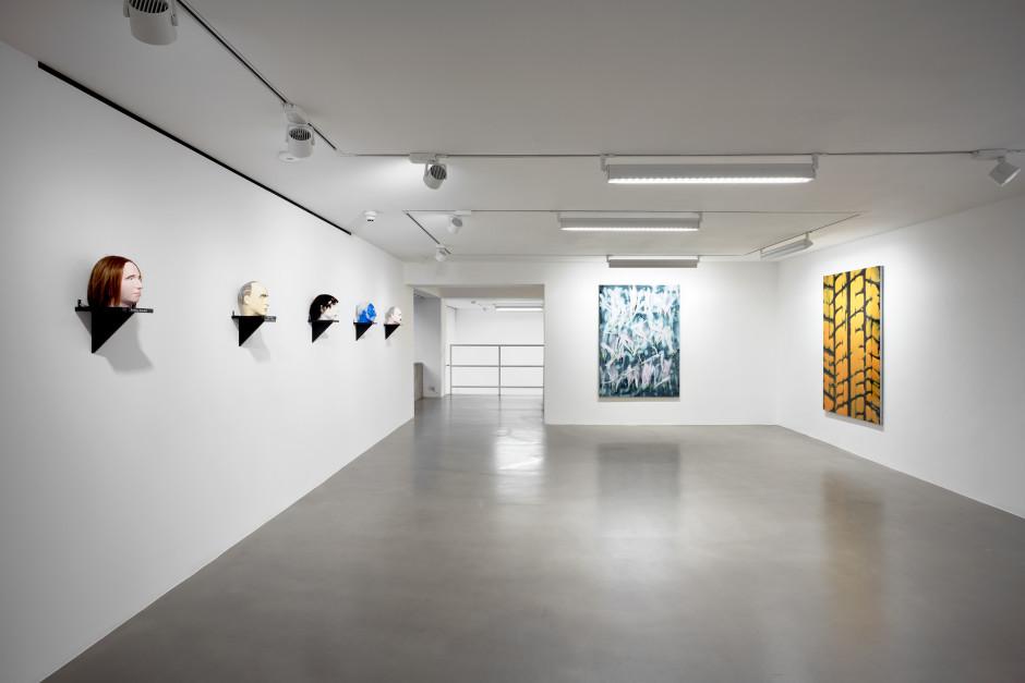 Installation view, dépendance, Jos de Gruyter & Harald Thys, Lucie Stahl, 1 Davies Street, 2020  Photo by Robert Glowacki