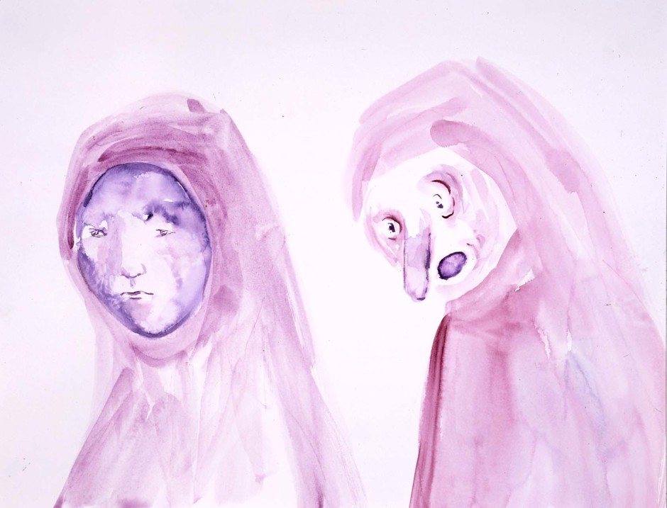 Two Heads in Lila, 2005