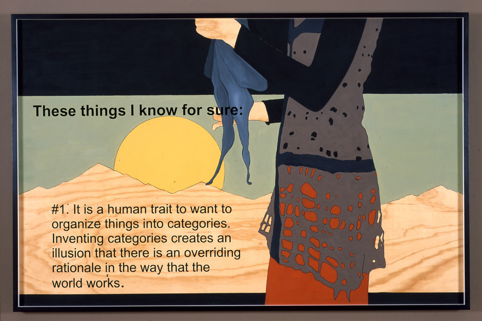 Prototype For Billboard at A-Z West: These Things I Know for Sure #1 (AZ in fiber form holding scarf), 2006