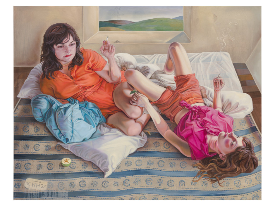 Classic IV, 2020  oil and pencil on canvas  180 x 230 cm / 70 ⅞ x 9