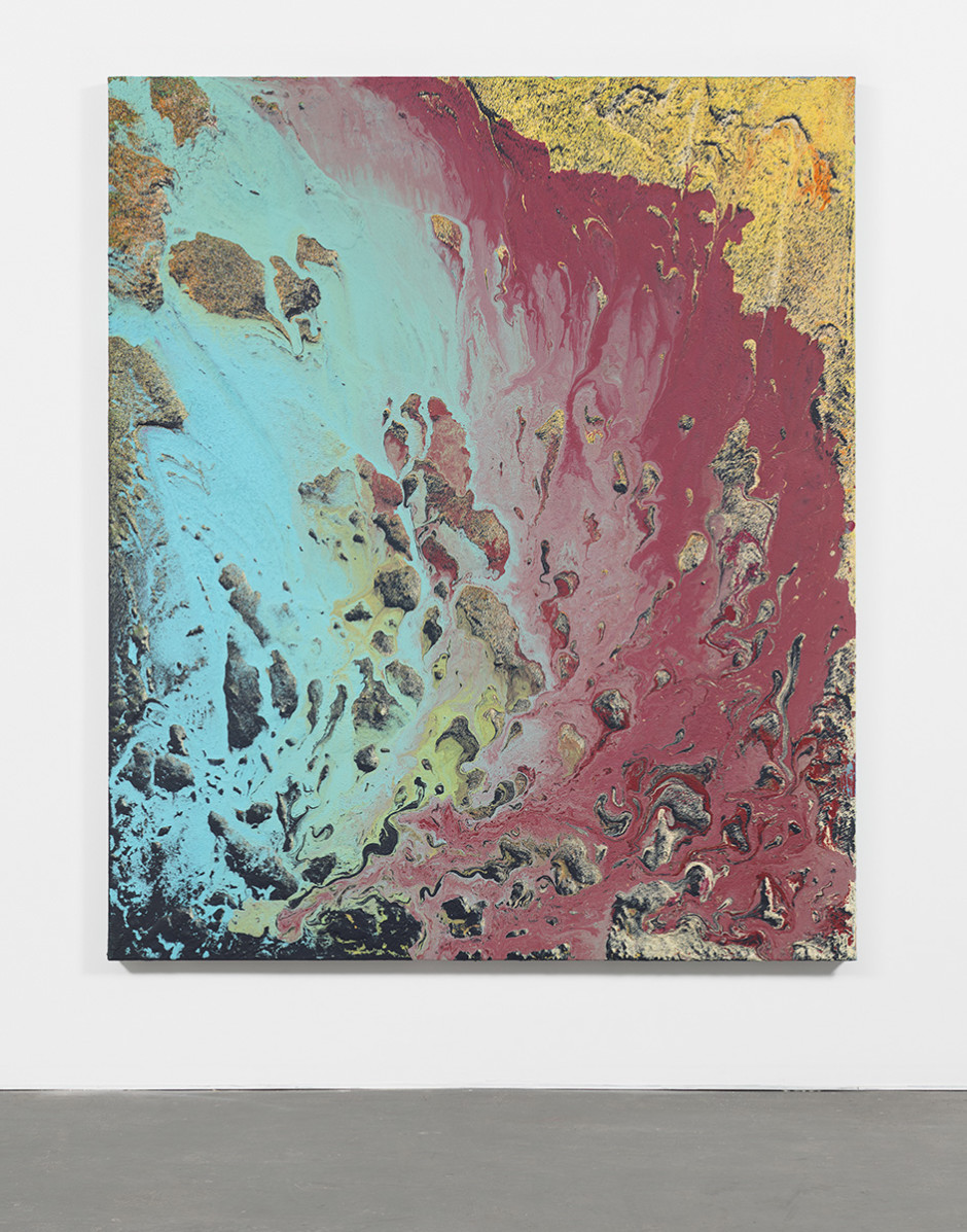 Untitled 2015  Latex, enamel, lacquer, and synthetic polymer paint on polyester canvas 70 x 59.25 in