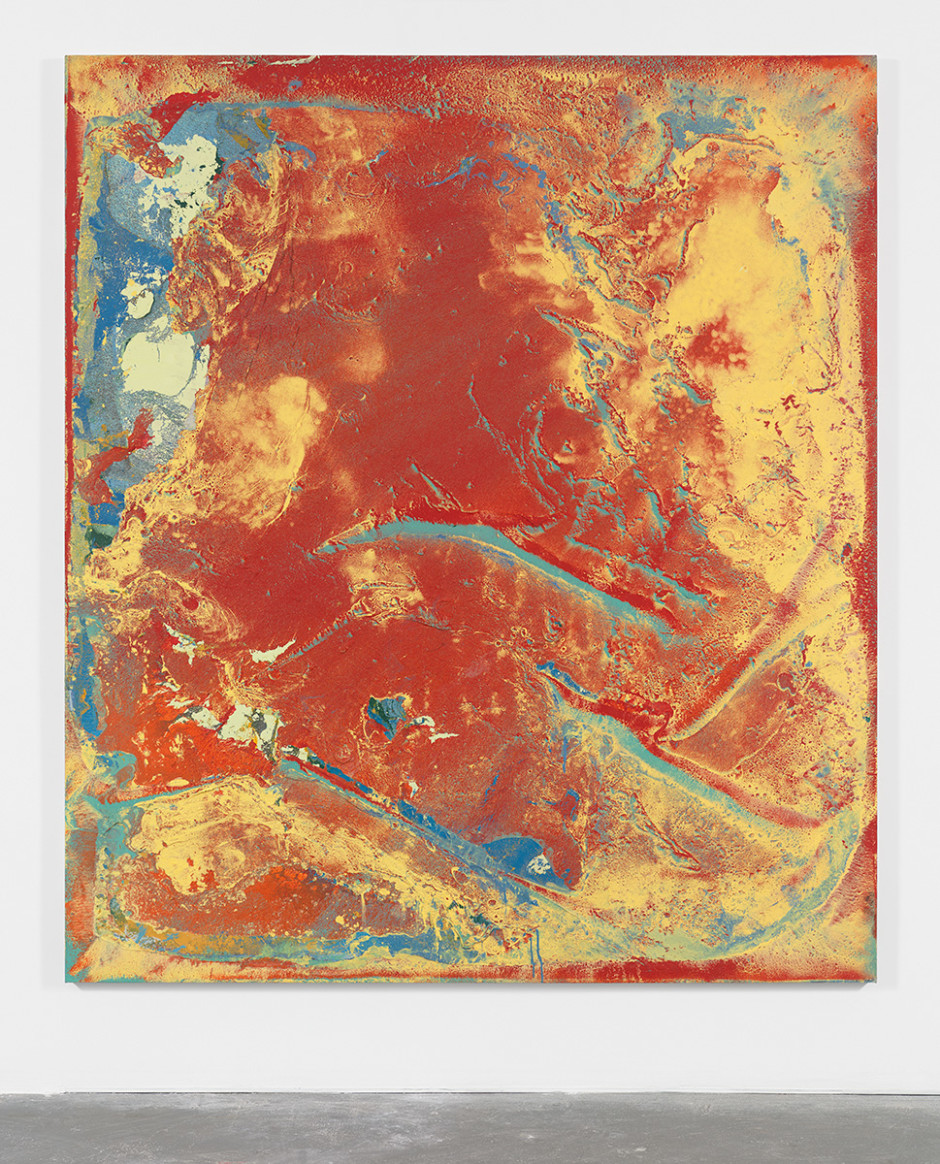 Untitled 2015  Lacquer and synthetic polymer paint on canvas  96 x 84 in