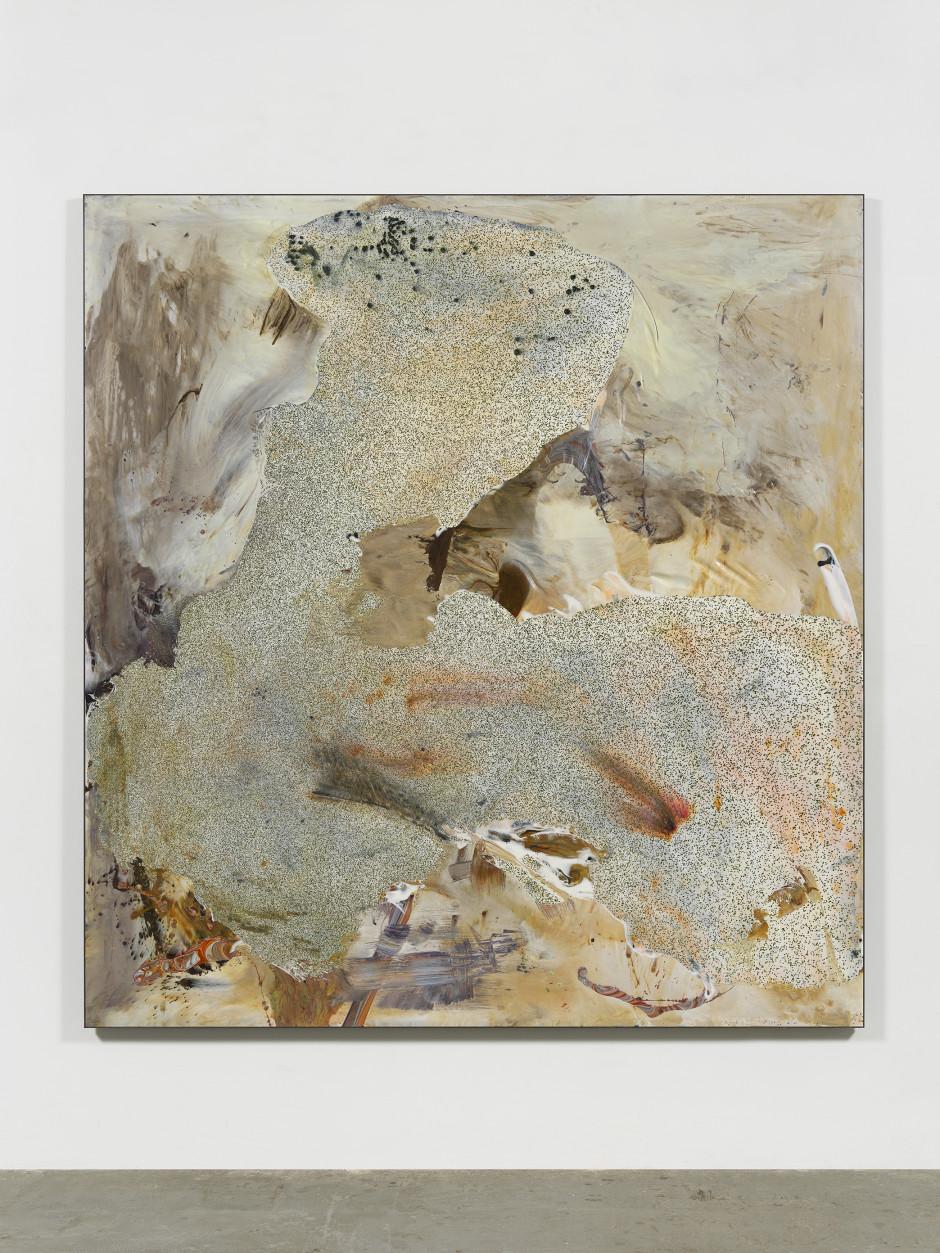 White Painting  2019  cast urethane resin, fiberglass, epoxy  72 x 67 in