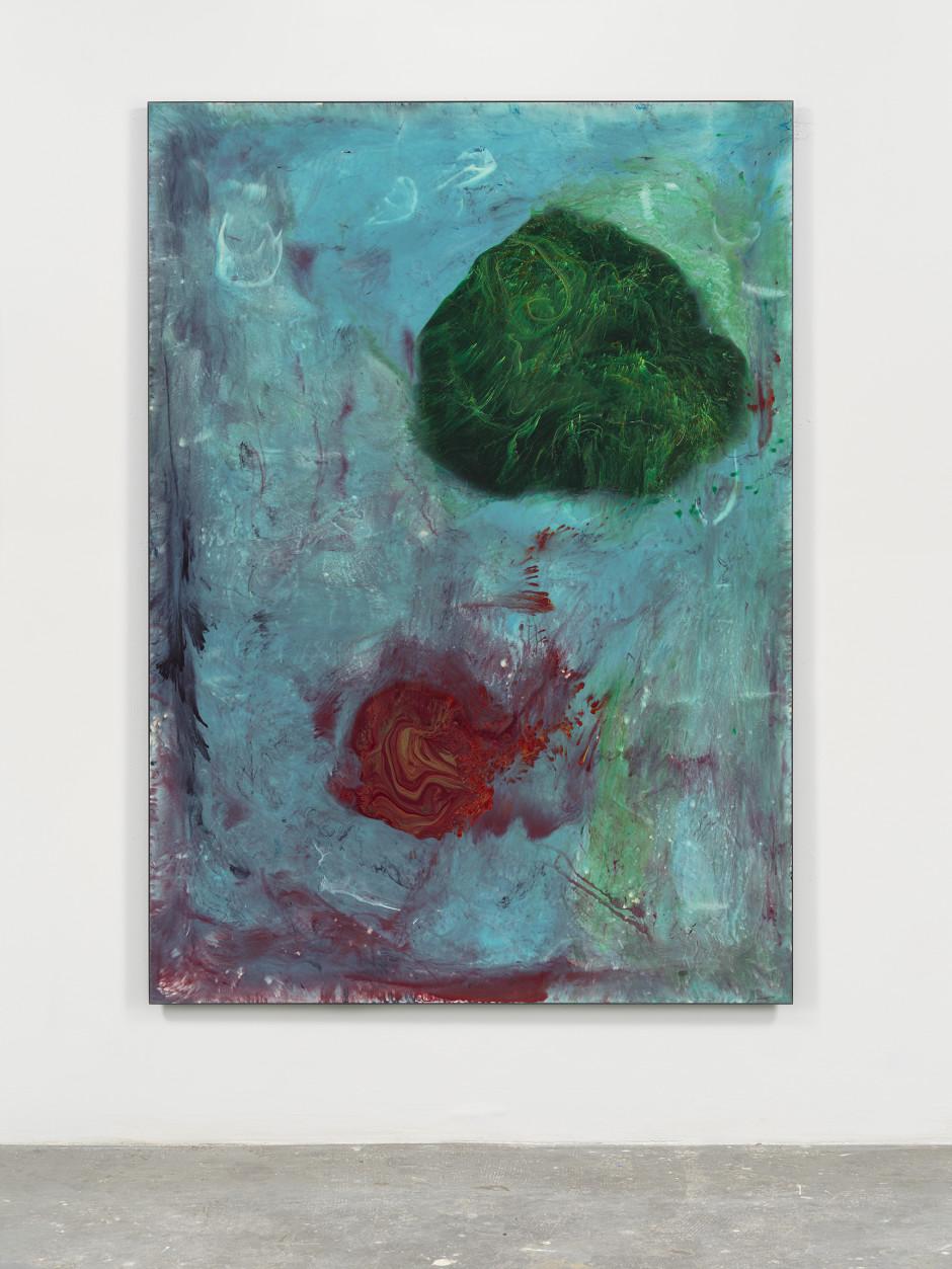 Blue Painting  2019 Cast urethane resin, fiberglass, epoxy 84.25 x 60.25 in