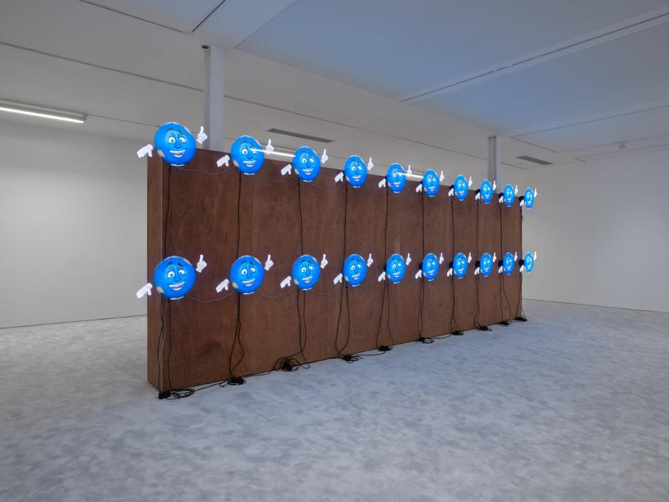 ARTISTS FRIENDS RACISTS, 2020  20 3-D Holographic fans