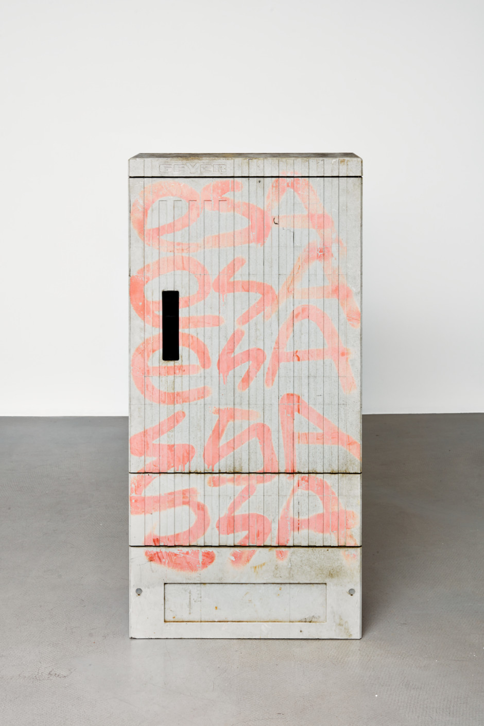 Klara Liden  Esaesa, 2020  junction box  130.4 x 58.2 x 27.6 cm / 51 ⅜ x 22 ⅞ x 10 ⅞ in