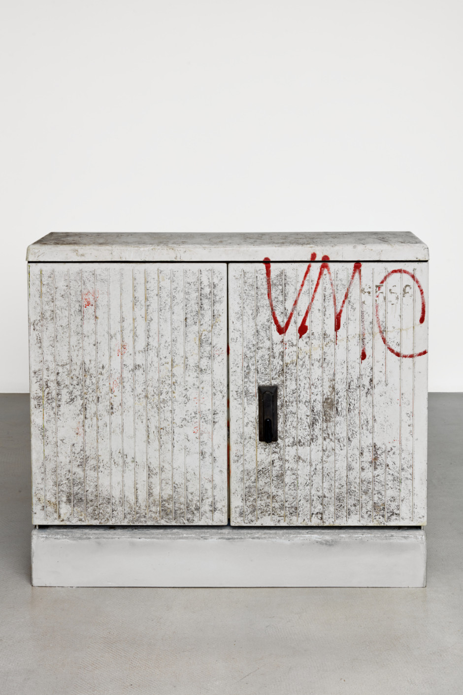 Klara Liden  VMC, 2020  junction box, concrete  103 x 111 x 35.6 cm / 40 ½ x 43 ¾ x 14 ⅛ in