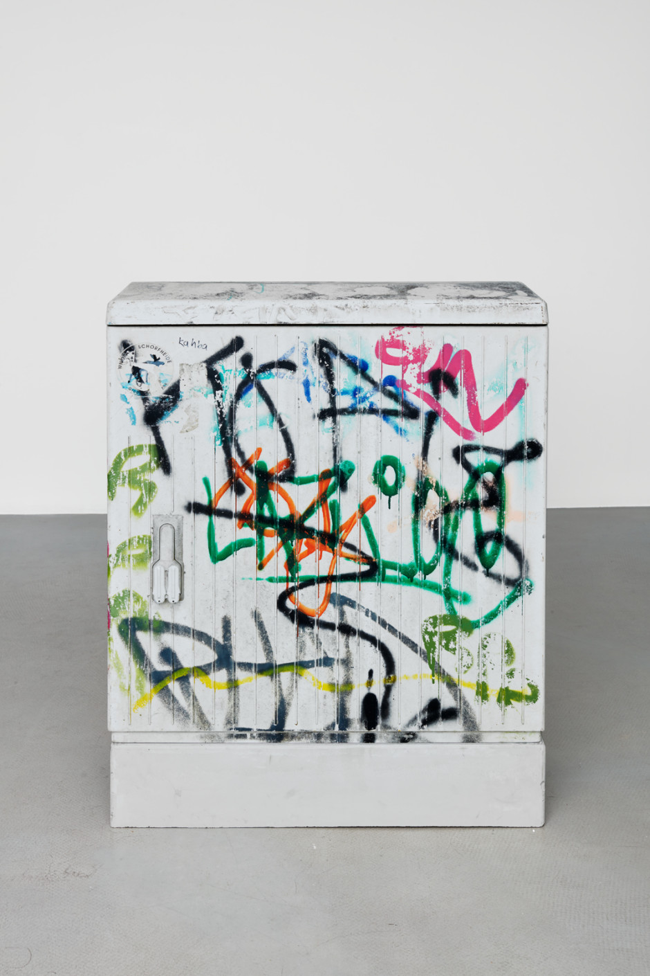 Klara Liden  Kahba, 2020  junction box, concrete  102.4 x 78.4 x 35 cm / 40 ¼ x 30 ⅞ x 13 ¾ in