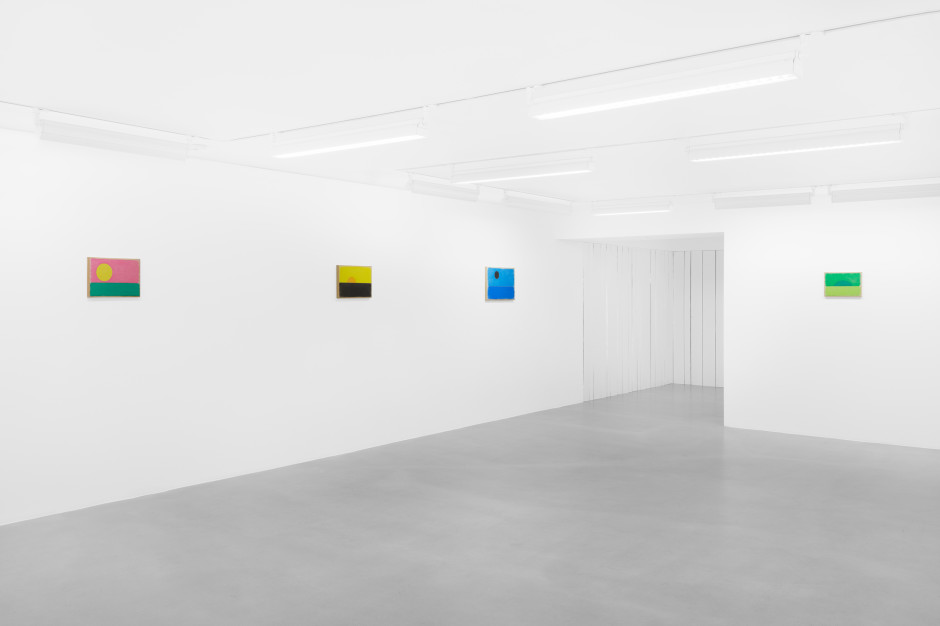 Installation view, Ugo Rondinone, a sky . a sea . distant mountains . horses . spring . at Sadie Coles HQ, 1 Davies St, London, 12 April - 14 May 2021  Photography by Eva Herzog