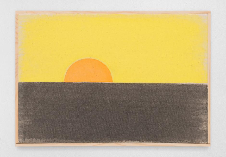 einunddreißigsterzweitausendundneunzehn, 2019  watercolour on canvas, artist's frame  site size: 28 x 40.5 x 2.2 cm / 11 1/8 x 16 x 7/8 in frame size: 29.3 x 41.8 x 2.5 cm / 11 1/2 x 16 1/2 x 1 in