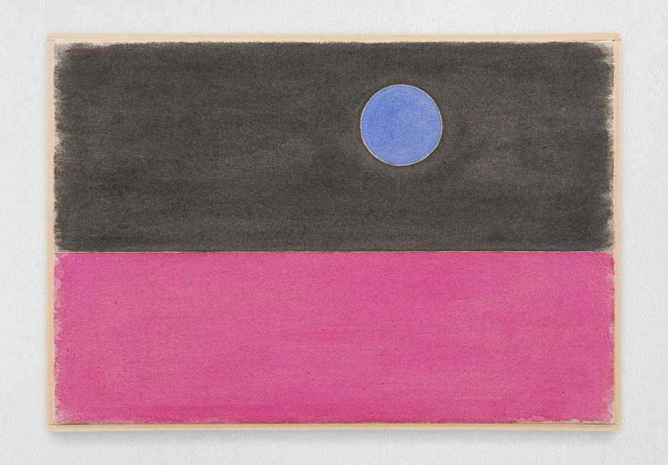 elfteraprilzweitausendundzwanzig, 2020  watercolour on canvas, artist's frame  site size: 33 x 48.2 x 2.2 cm / 13 x 19 x 7/8 in frame size: 34.4 x 49.5 x 2.5 cm / 13 1/2 x 19 1/2 x 1 in