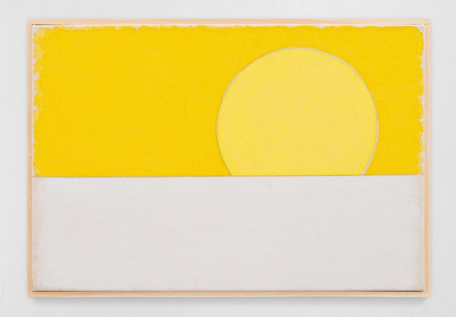 zweiundzwanzigsterjanuarzweitausendundeinundzwanzig, 2020  watercolour on canvas, artist's frame  site size: 28 x 40.5 x 2.2 cm / 11 1/8 x 16 x 7/8 in frame size: 29.4 x 41.8 x 2.5 cm / 11 5/8 x 16 1/2 x 1 in