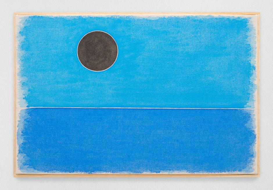 dreißigsterjanuarzweitausendundeinundzwanzig, 2021  watercolour on canvas, artist's frame  site size: 35.5 x 53.2 x 2.2 cm / 14 x 21 x 7/8 in frame size: 37 x 54.5 x 2.5 cm / 14 5/8 x 21 1/2 x 1 in