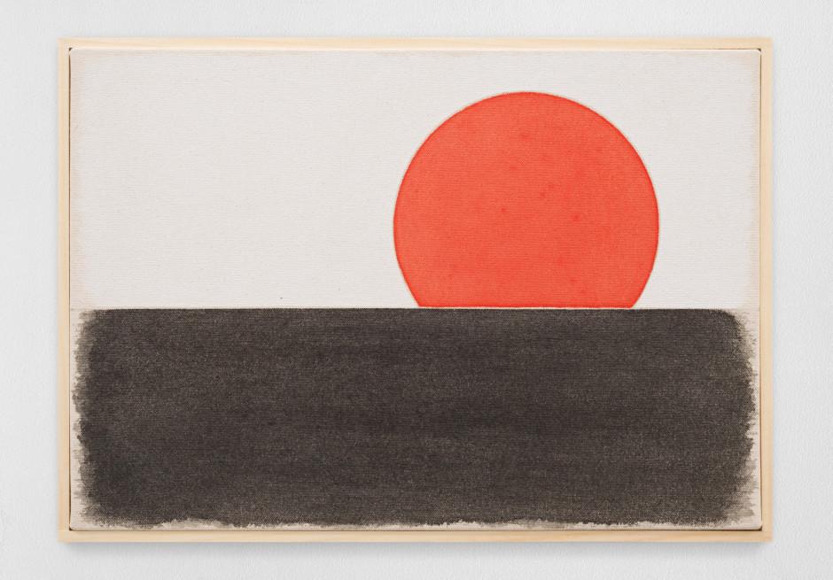 vierzehnterjanuarzweitausendundeinundzwanzig, 2021  watercolour on canvas, artist's frame  site size: 28 x 40.6 x 2.2 cm / 11 1/8 x 16 x 7/8 in frame size: 29.3 x 42.1 x 2.5 cm / 11 1/2 x 16 5/8 x 1 in