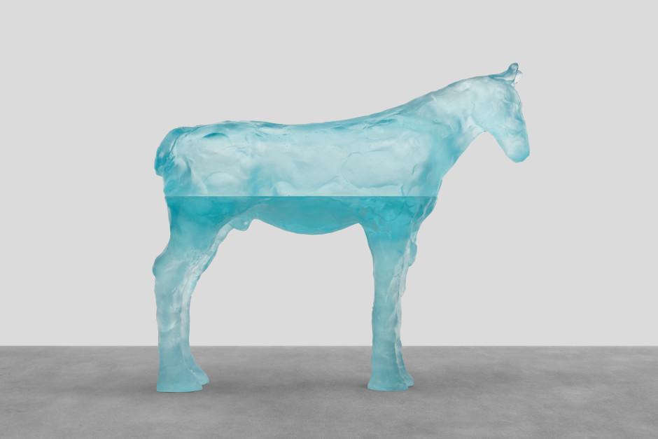 andaman sea, 2021  blue glass  86.7 x 98.6 x 26.7 cm / 34 ⅛ x 38 ⅞ x 10 ½ in