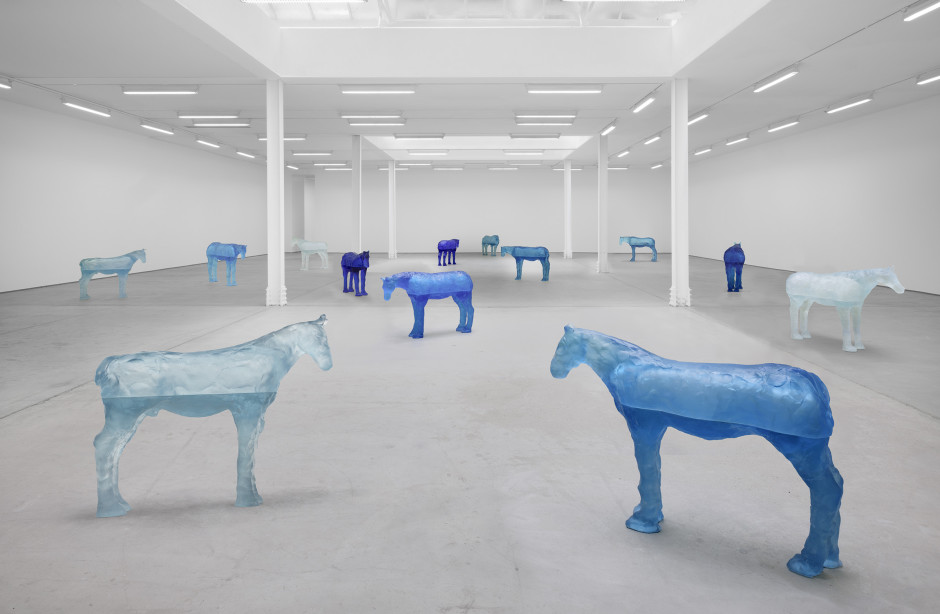 Installation view, Ugo Rondinone, a sky . a sea . distant mountains . horses . spring . Sadie Coles HQ, 62 Kingly Street W1K 3DB, 12 April - 14 May 2021  Photography by Eva Herzog