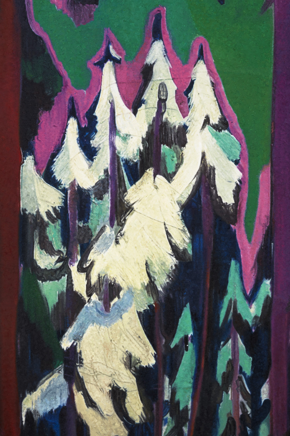 Kirchner Wald im Winter 1925, 2019  oil on canvas  242.3 x 203 x 5.8 cm / 95 3/8 x 79 7/8 x 2 1/4 in