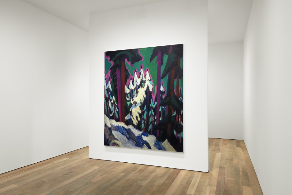 Installation view, Rudolf Stingel, Kirchner Wald im Winter 1925, Sadie Coles HQ, 8 Bury Street SW1Y, opening 30th March 2021  Photography by Robert Glowacki