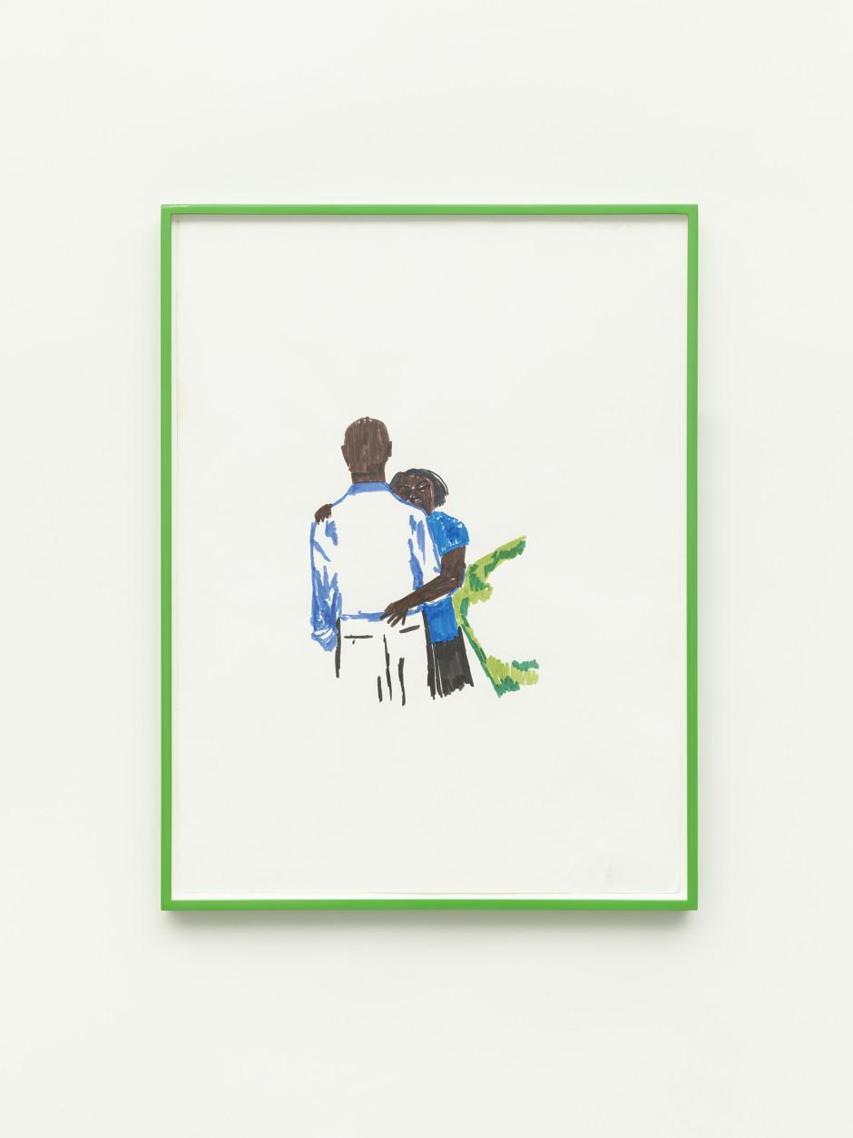In It (All), 2021  watercolour marker on paper  60.8 x 45.6 cm / 24 x 18 in