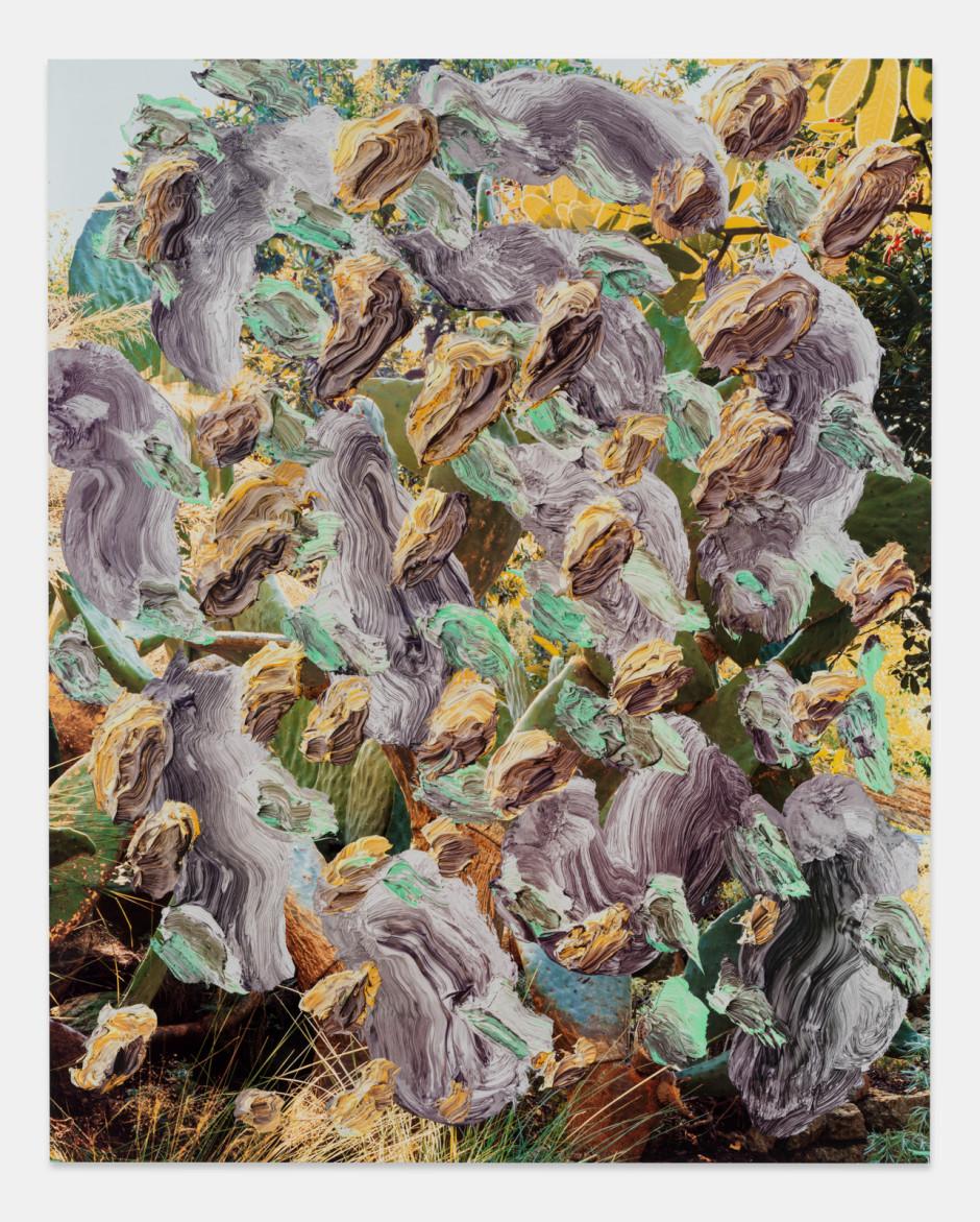 Nature Invert, 2021  aluminium composite panel, aluminium honeycomb, polyurethane adhesive, epoxy primer, gesso, solvent-based screen printing paint, water-based screen printing paint  site size: 243.8 x 194.9 x 2.2 cm / 96 x 76 ¾ x ⅞ in frame size: 247.6 x 198.7 x 5.1 cm / 97 ½ x 78 ¼ x 2 ⅛ in