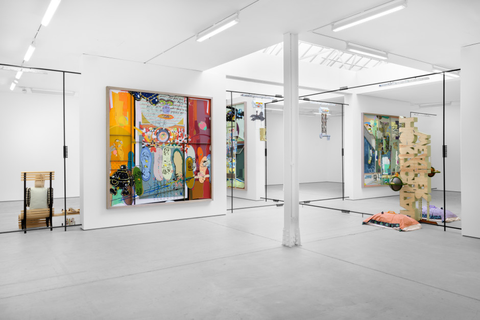 Installation view, Helen Marten, Sparrows On the Stone, Sadie Coles HQ, 62 Kingly Street W1, 04 September – 30 October 2021  Photography by Eva Herzog
