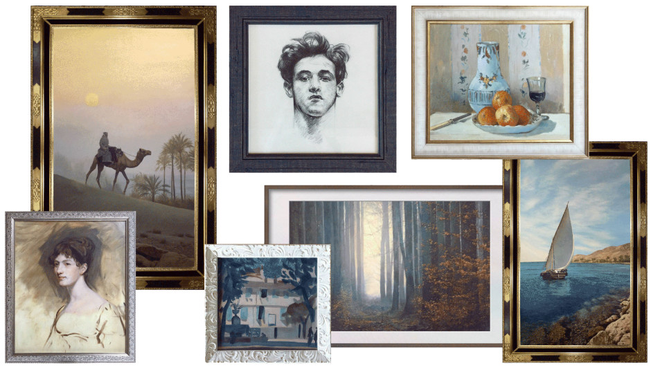 Paintings and drawings in traditional styles, designed/created and framed to order.