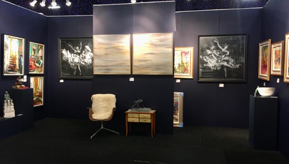 Stand at Battersea Affordable Art Fair, Spring 2020