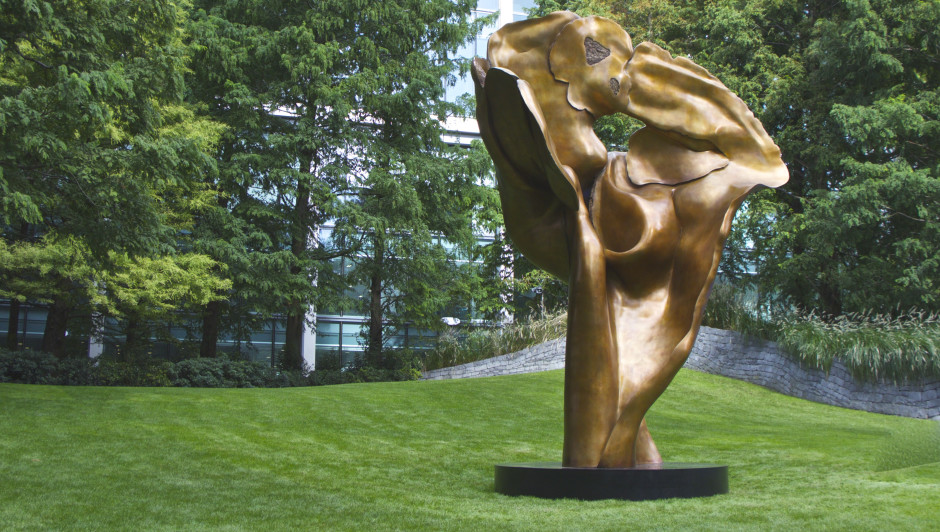HELAINE BLUMENFELD'S PUBLIC COMMISSION 'FORTUNA' Unveiled at Canary Wharf 2016
