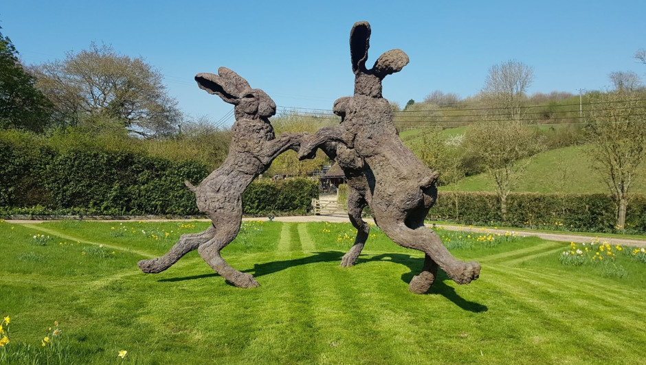 Dancing Hares by Sophie Ryder