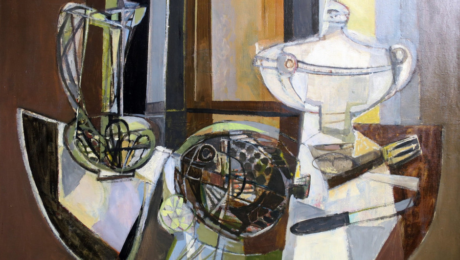 Georges Dayez (1907 - 1991) Still life with a soup tureen Oil on canvas, signed 29 x 36 inches, canvas size